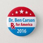 Dr. Ben Carson 2016 - Prescription for America Pinback Button