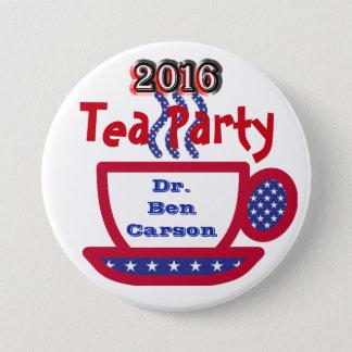 Dr. Ben Carson 2016 - Red, White, & Blue Tea Cup Button