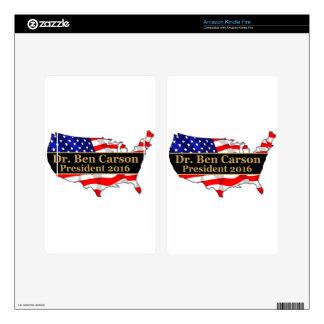 Dr. Ben Carson 2016 USA popular political design Kindle Fire Decals
