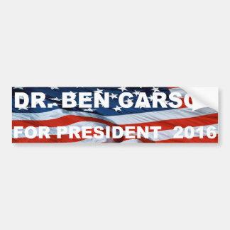 Dr.Ben Carson for president 2016 bumper sticker Car Bumper Sticker