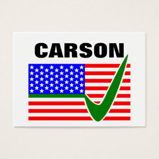 Dr. Ben Carson for President 2016 Business Card
