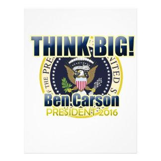 Dr. Ben Carson for President Letterhead