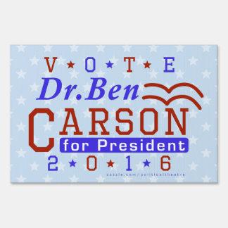 Dr. Ben Carson President 2016 Election Republican Lawn Sign