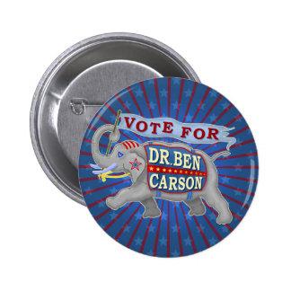 Dr Ben Carson President 2016 Republican Elephant Pinback Button