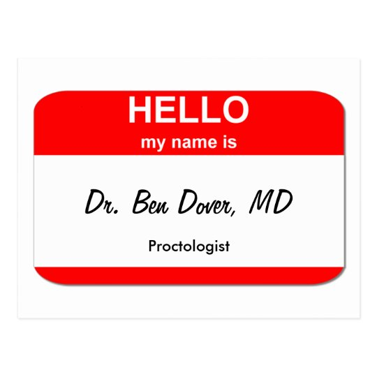 Dr. Ben Dover, MD Postcard