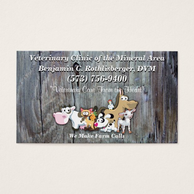 Dr Ben Veterinarian Business Card