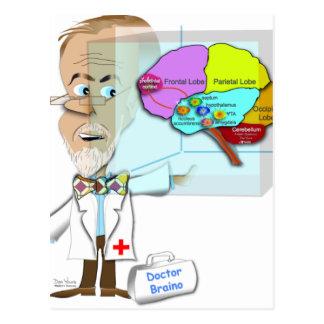 Dr. Braino Quarantines a Brain Postcard