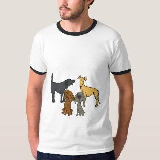 DR camiseta de los compinches del perro que camina Playeras