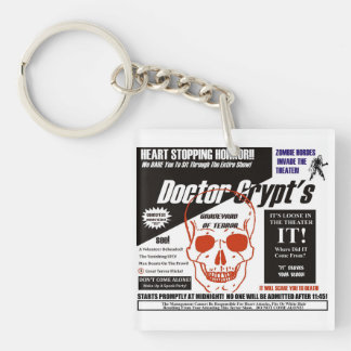 Dr. Crypt's Spook Show Single-Sided Square Acrylic Keychain
