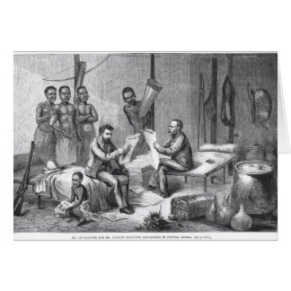Dr. David Livingstone (1813-73) and Mr. Henry Mort Card
