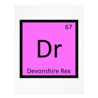 Dr - Devonshire Rex Cat Chemistry Element Symbol Personalized Letterhead