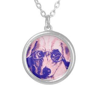 Dr. Dog Silver Plated Necklace