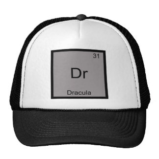 Dr - Dracula Funny Chemistry Element Symbol Tee Trucker Hat