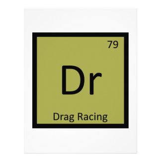 Dr - Drag Racing Sports Chemistry Periodic Table Custom Letterhead