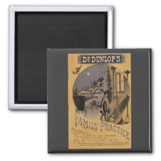 Dr. Dunlop's Family Practice, Vintage Book Cover 2 Inch Square Magnet