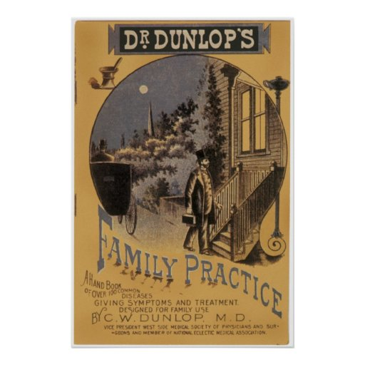 Old Book Cover Posters : Dr dunlop s family practice vintage book cover poster