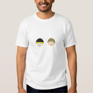 Dr. Ethan and Mr. Blarg  heads T-shirt