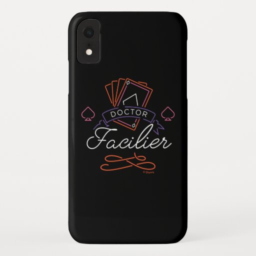 Dr. Facilier | Neon Card Deck Badge Logo iPhone XR Case