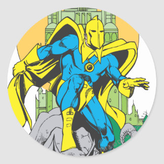 Dr. Fate & Invisible Tower Classic Round Sticker