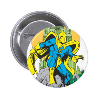 Dr. Fate & Invisible Tower Pinback Button