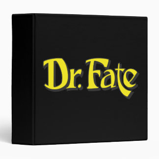 Dr. Fate Logo 3 Ring Binder