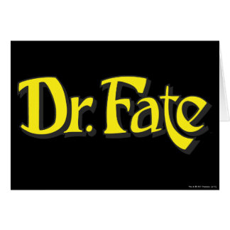 Dr. Fate Logo Greeting Card