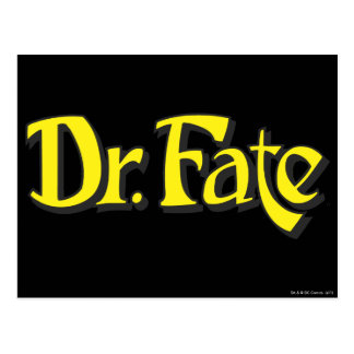Dr. Fate Logo Postcard