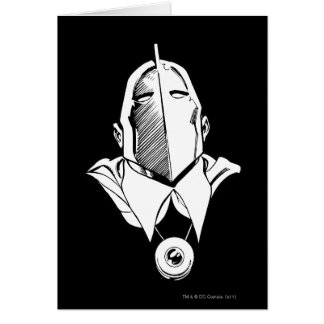 Dr. Fate Mask Outline Cards