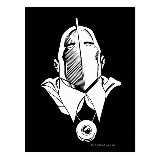 Dr. Fate Mask Outline Postcard