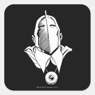 Dr. Fate Mask Outline Square Sticker