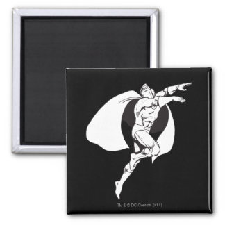 Dr. Fate Soaring Outline 2 Inch Square Magnet