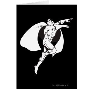 Dr. Fate Soaring Outline Greeting Card