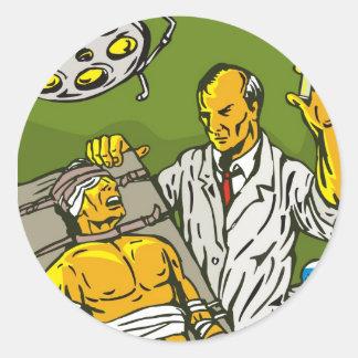 Dr. Frankenstein or mad scientist Stickers