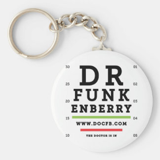 Dr. Funkenberry Round Keychain