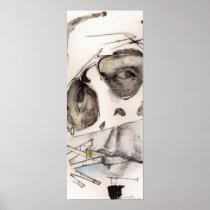 artsprojekt, huntersthompson, fear, loathing, las, vegas, abstract, portraits, archival, prints, atomic number 57, The Rum Diary (novel), pothunter, metallic element, lope de vega, The Curse of Lono, lion-hunter, snarer, journalism, timorousness, alcoholic beverage, timidness, Lysergic acid diethylamide, detestation, iconoclasm, odium, execration, reporter, written language, mescaline, written communication, firearm, skilled worker, Richard Nixon, skilled workman, Cartaz/impressão com design gráfico personalizado