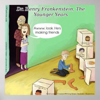 Dr Henry Frankenstein Funny Poster