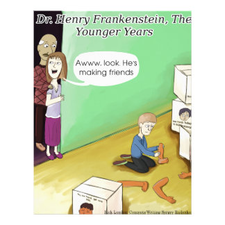 Dr. Henry Frankstien Youthful Years Customized Letterhead