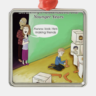 Dr. Henry Frankstien Youthful Years Metal Ornament