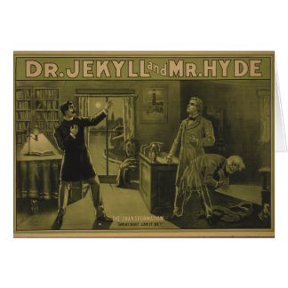 Dr. Jekyll and Mr. Hyde Theatrical Poster 1880 Greeting Card