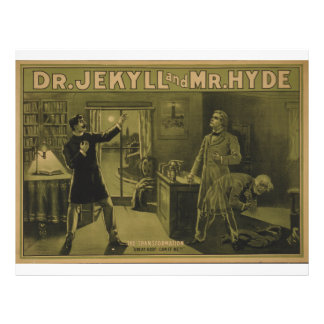 Dr. Jekyll and Mr. Hyde Theatrical Poster 1880 Custom Letterhead