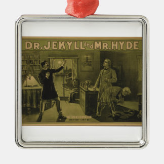 Dr. Jekyll and Mr. Hyde Theatrical Poster 1880 Metal Ornament