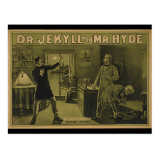 Dr. Jekyll and Mr. Hyde Theatrical Poster 1880 Postcard