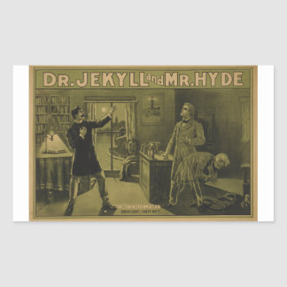 Dr. Jekyll and Mr. Hyde Theatrical Poster 1880 Rectangular Sticker