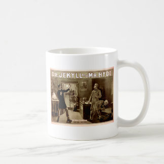 Dr. Jekyll and Mr. Hyde Vintage Illustration 1880s Classic White Coffee Mug