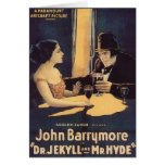 Dr. Jekyll and Mr. Hyde Vintage Movie Poster Card