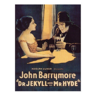 Dr. Jekyll and Mr. Hyde Vintage Movie Poster Postcard