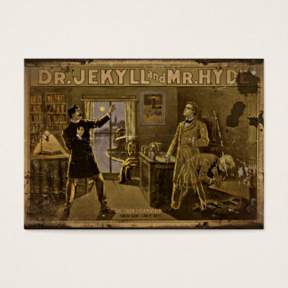 Dr Jekyll and Mr Hyde Vintage Poster Art Business Card