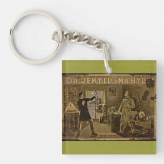 Dr Jekyll and Mr Hyde Vintage Poster Art Keychain