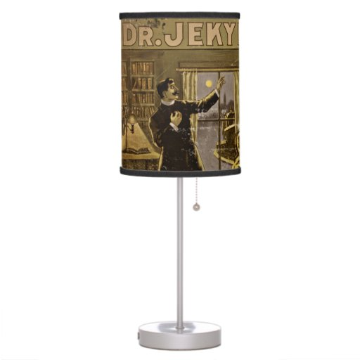 Dr Jekyll and Mr Hyde Vintage Poster Art Table Lamp