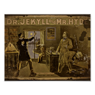 Dr Jekyll and Mr Hyde Vintage Poster Art Poster
